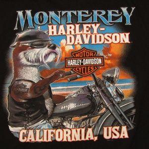 HARLEY-DAVIDSON Monterey, CA USA black t-shirt XL